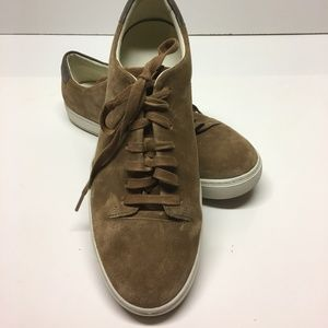 VINCE Suede Lace up Tan Brown Sneakers USA 12